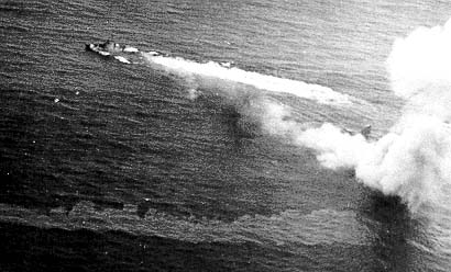 Mortally Wounded USS BUSH